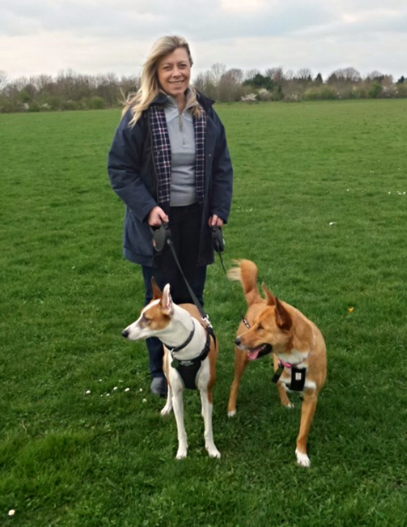 Tania Morris with Rescue Dogs